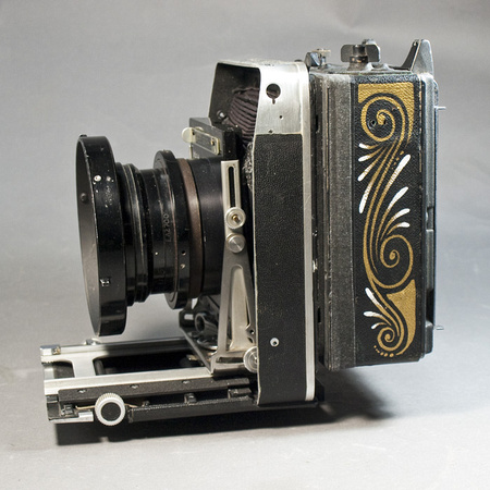 Speed Graphic shutter, Super Graphic front, Aero Ektar lens. Striping by world famous Doug DoRr.