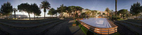 The ice skating rink at Santa Margherita. Liguria.